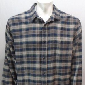 6ea7b88e5eb5d9 Roots Canada Green Blue Plaid Flannel shirt XXL